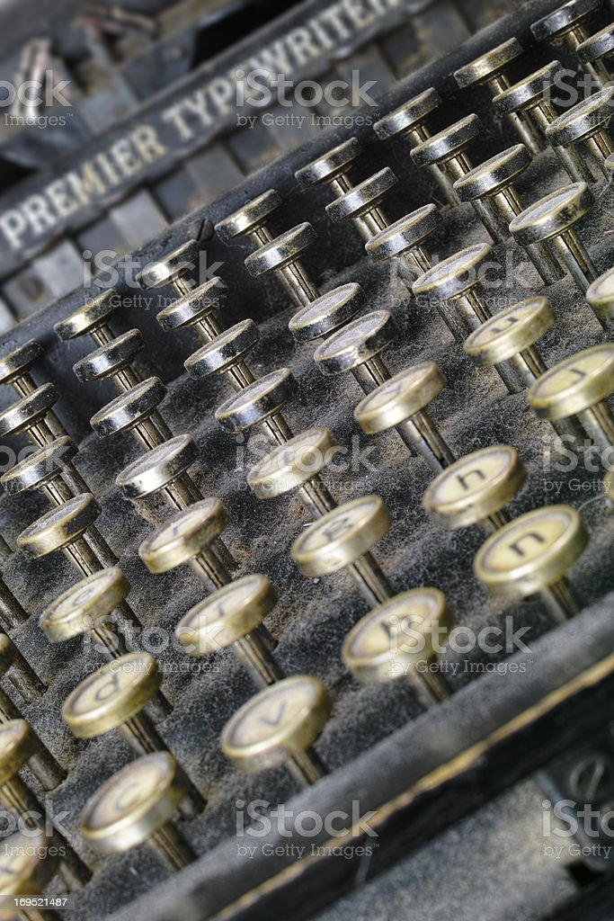 Typewriting - a timeless treasure royalty-free stock photo