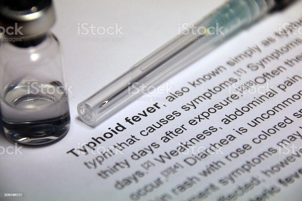 Typhoid fever stock photo