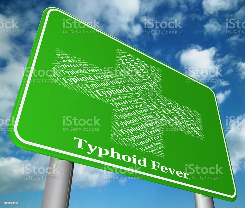 Typhoid Fever Represents Symptomatic Bacterial Infection And Aff stock photo