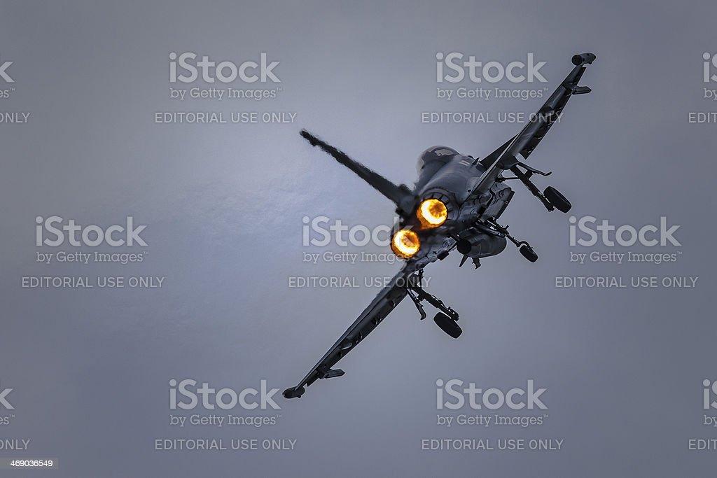 Typhoon Eurofighter stock photo