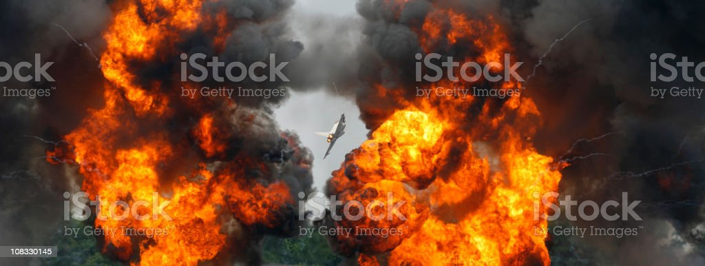 Typhoon Fighter Bomb Run royalty-free stock photo