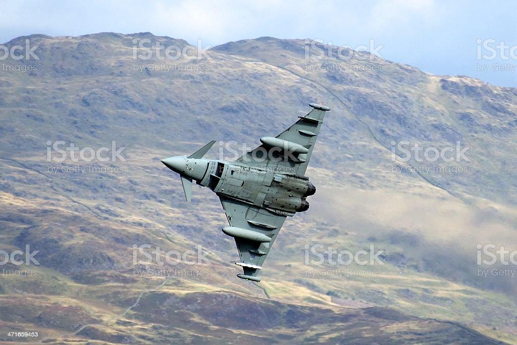 RAF Typhoon Low level training stock photo