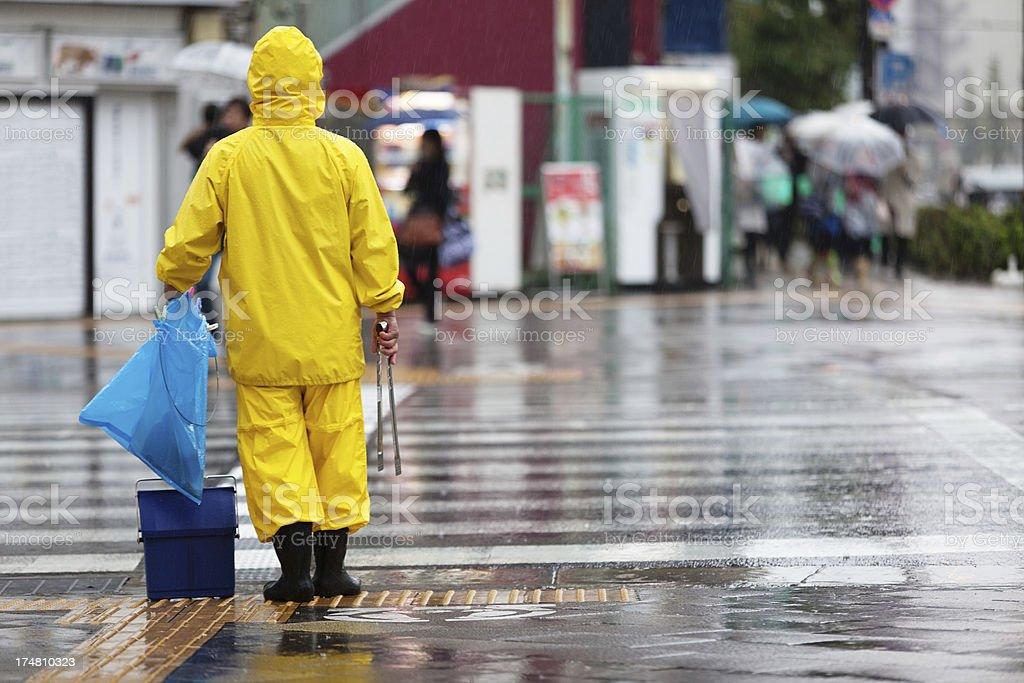 Typhoon weather stock photo