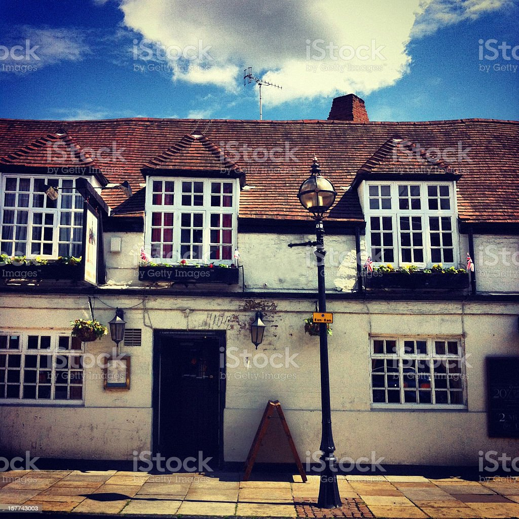 Typical 16th Century English Pub royalty-free stock photo