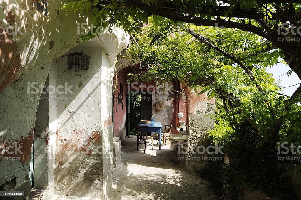 typical Aeolian house stock photo