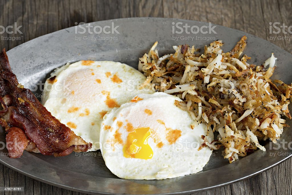 Typical American Breakfast stock photo