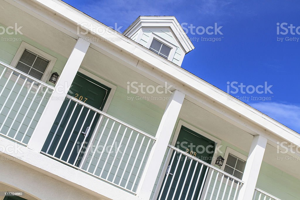 Typical American Motel Stock Photo royalty-free stock photo