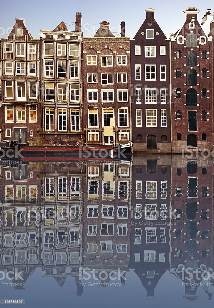 Typical Amsterdam houses royalty-free stock photo