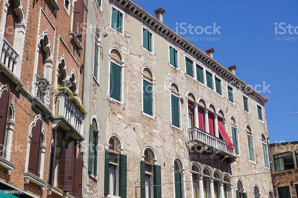 Typical ancient Venetian buildings Lizenzfreies stock-foto