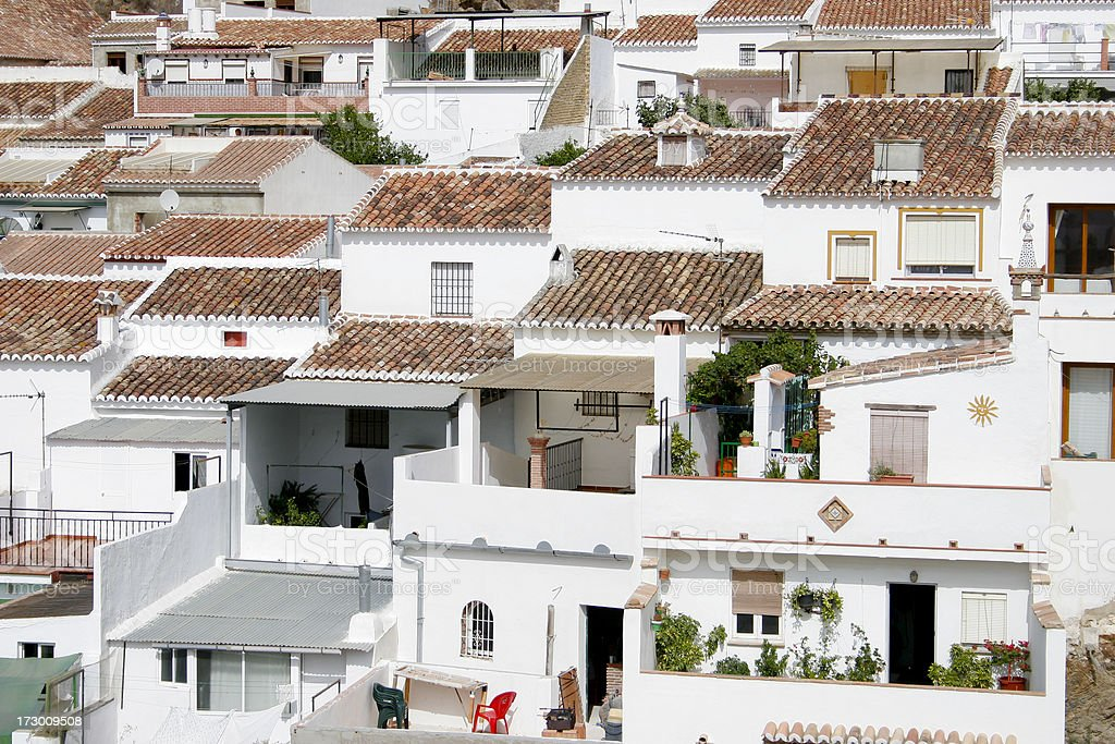 Typical andalusian white houses royalty-free stock photo