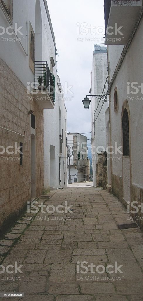 Typical Apulian country lane stock photo