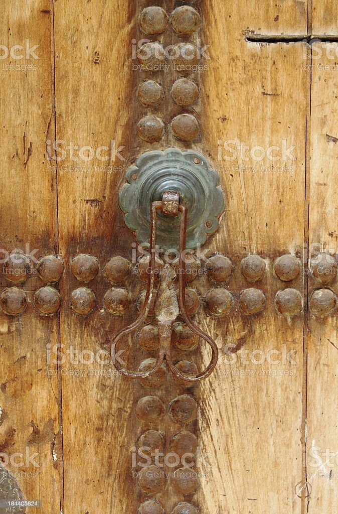 Typical arab style doorknob royalty-free stock photo