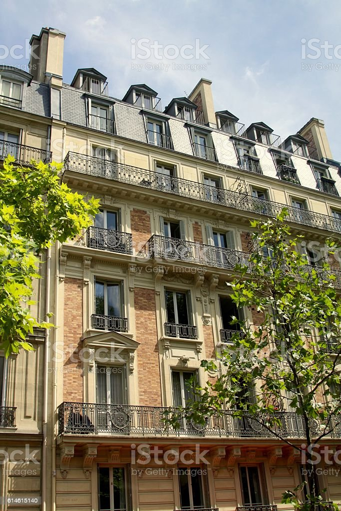 Typical Architecture In Paris France stock photo