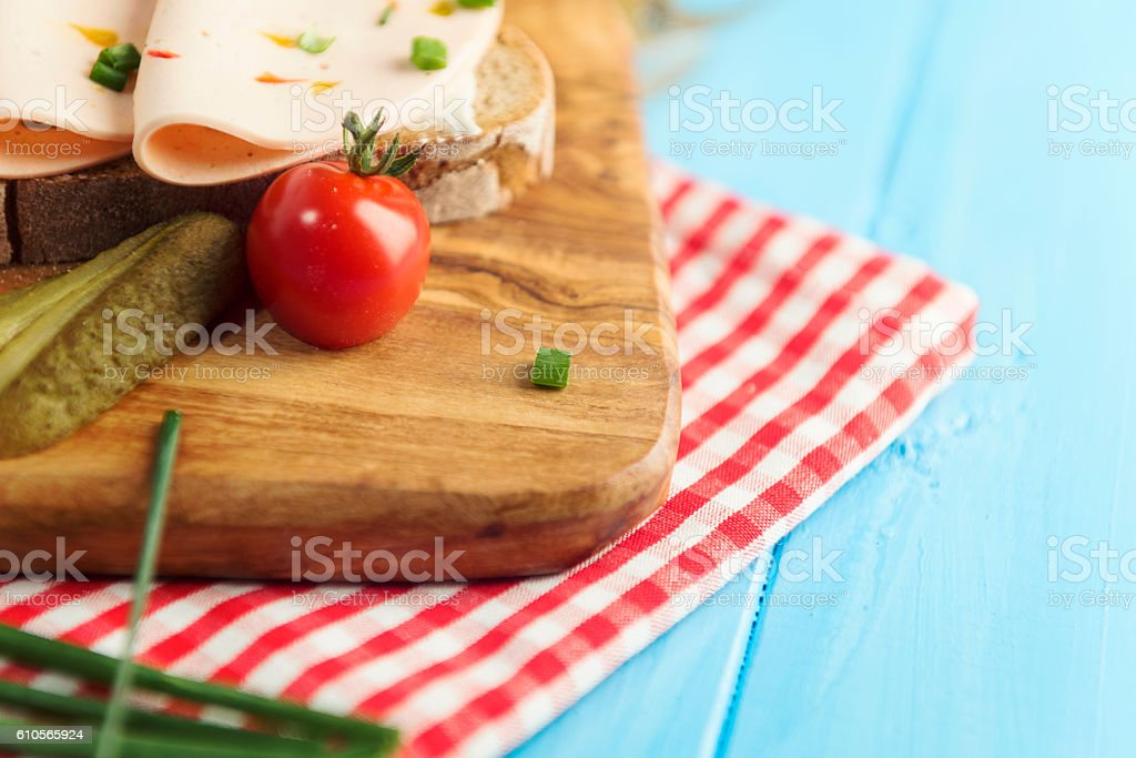 Typical Bavarian Brotzeit stock photo