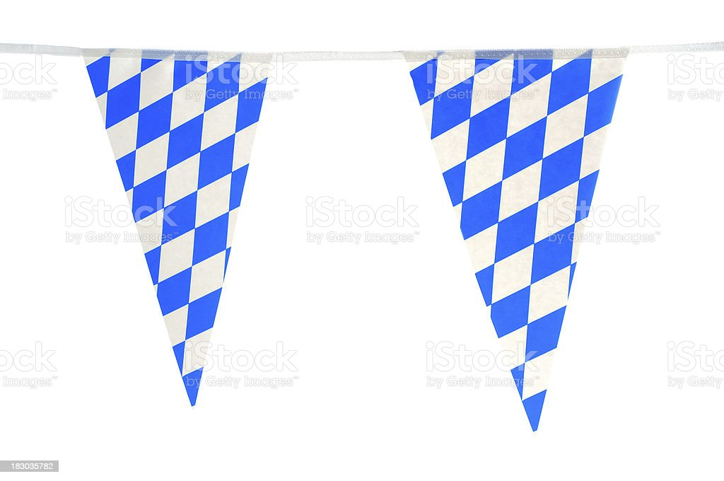 typical bavarian wreath for Oktoberfest in blue white royalty-free stock photo