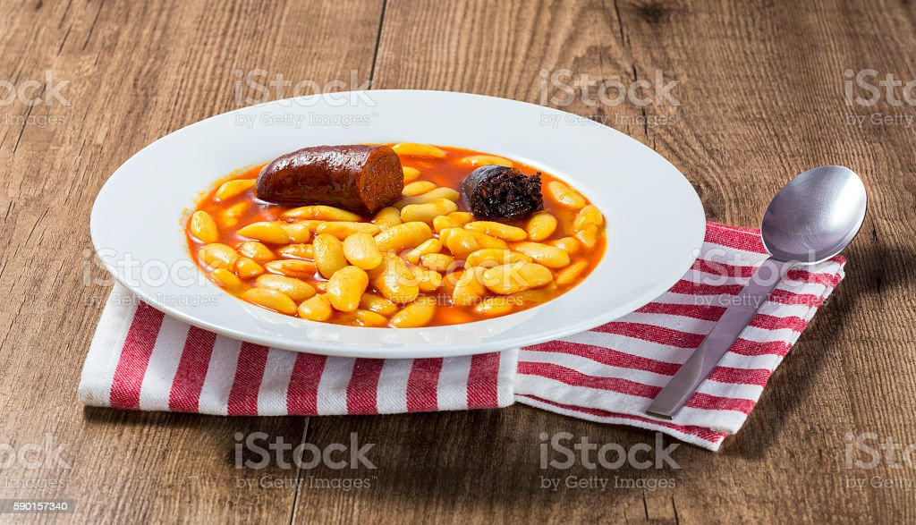 Typical beans from Asturias stock photo