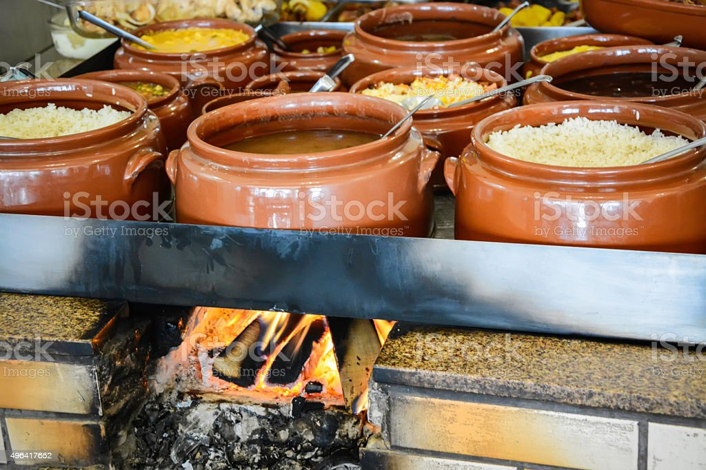 Typical Brazilian meal stock photo