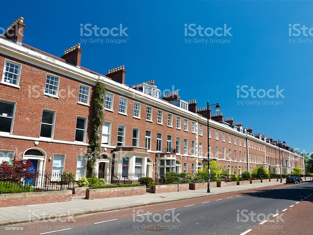Typical british houses in Belfast,Northern Ireland stock photo