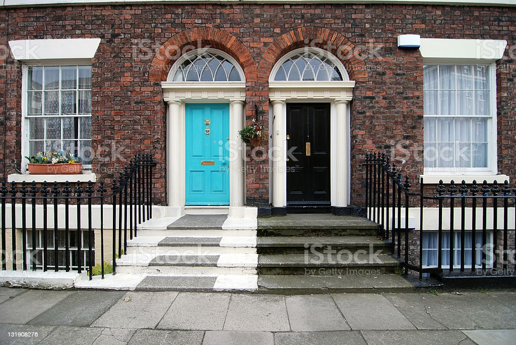 Typical british houses royalty-free stock photo