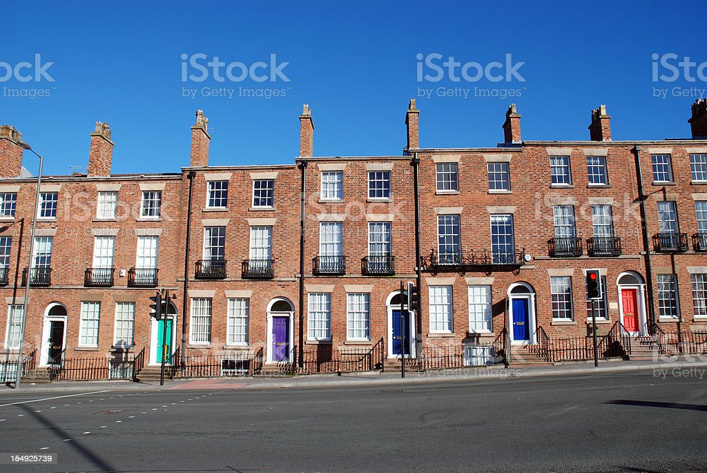 Typical british houses stock photo