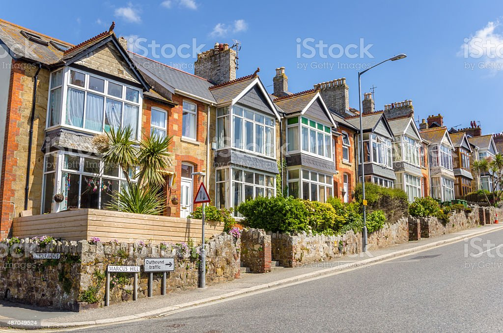 Typical British Terraced Houses stock photo