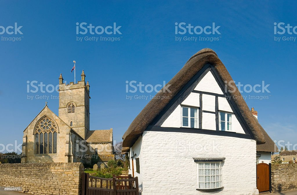 Typical British village scene royalty-free stock photo