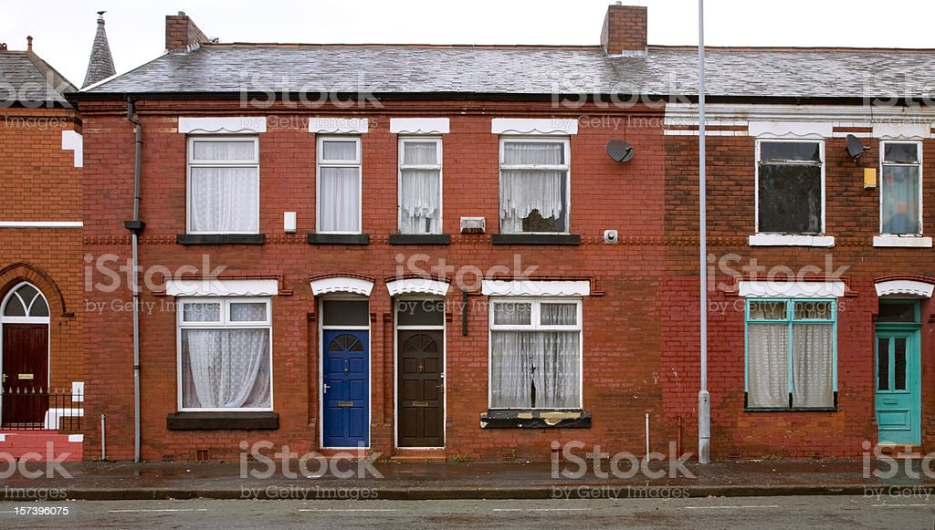 Typical British Working-class Homes-See lightboxes below for more royalty-free stock photo