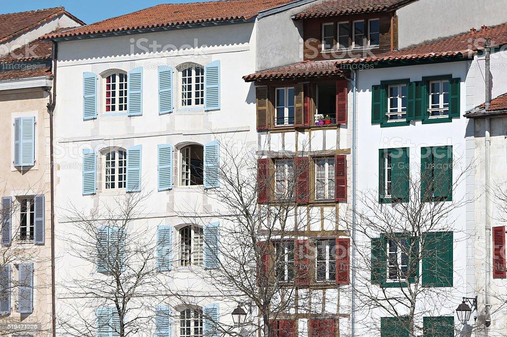 Typical building facade stock photo