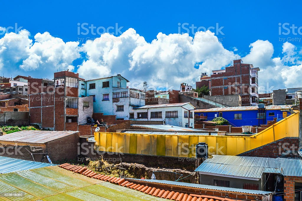 Typical buildings in South America stock photo