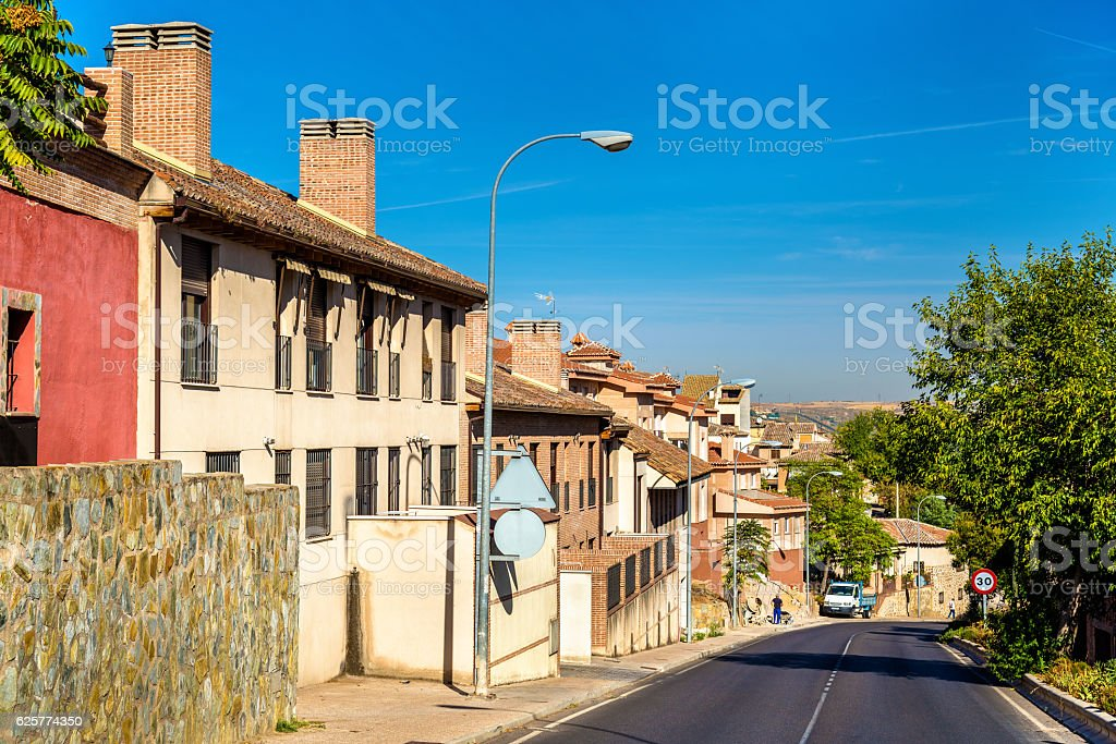Typical buildings in Toledo - Spain stock photo