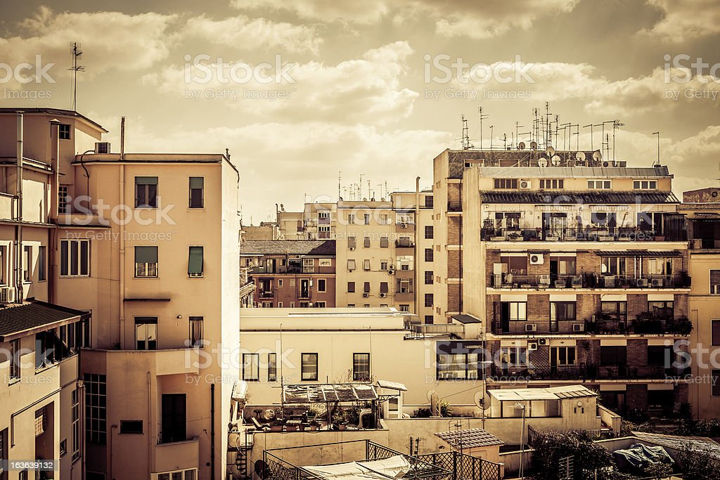 Typical buildings of San Lorenzo distric, Rome royalty-free stock photo