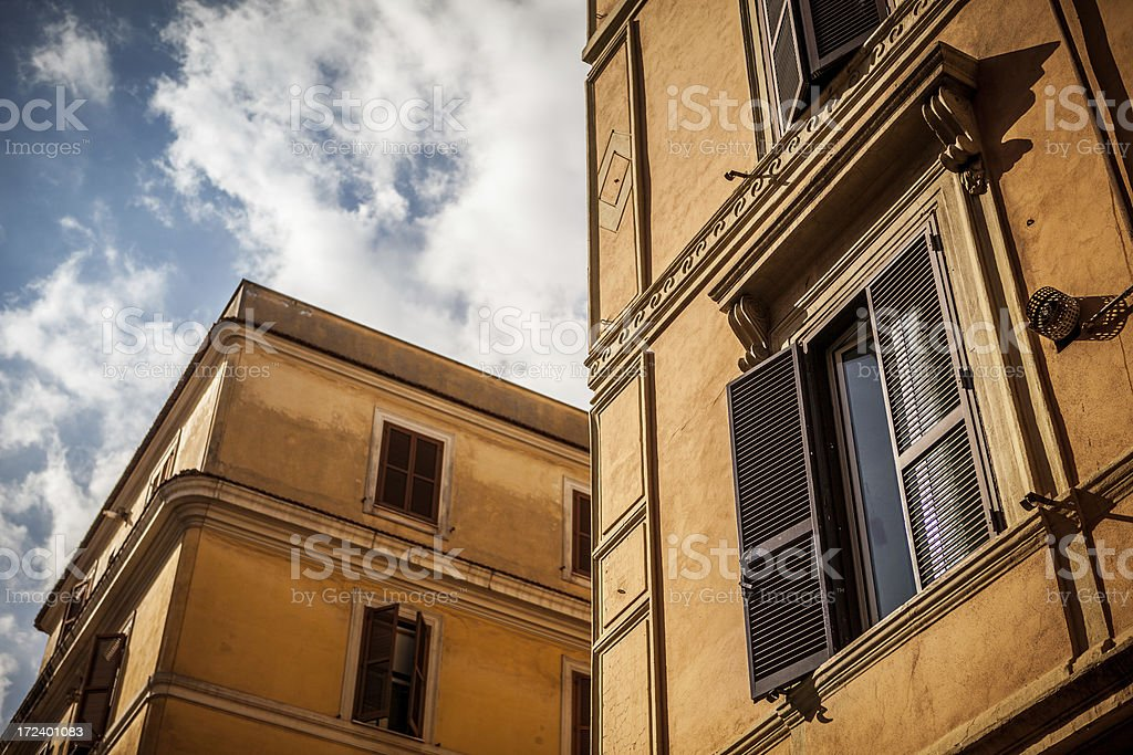 Typical buildings of Testaccio distric, Rome royalty-free stock photo
