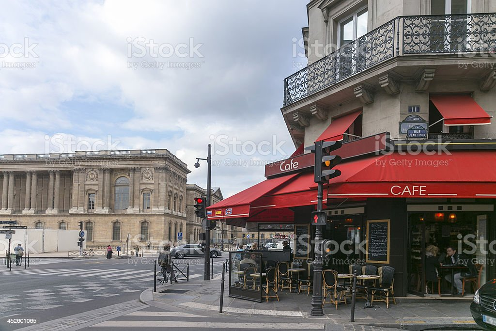Typical cafe shop in Paris stock photo