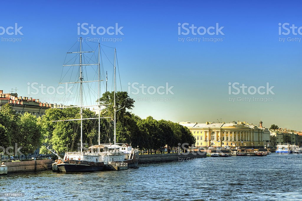 Typical Canal in St. Petersburg, Russia royalty-free stock photo