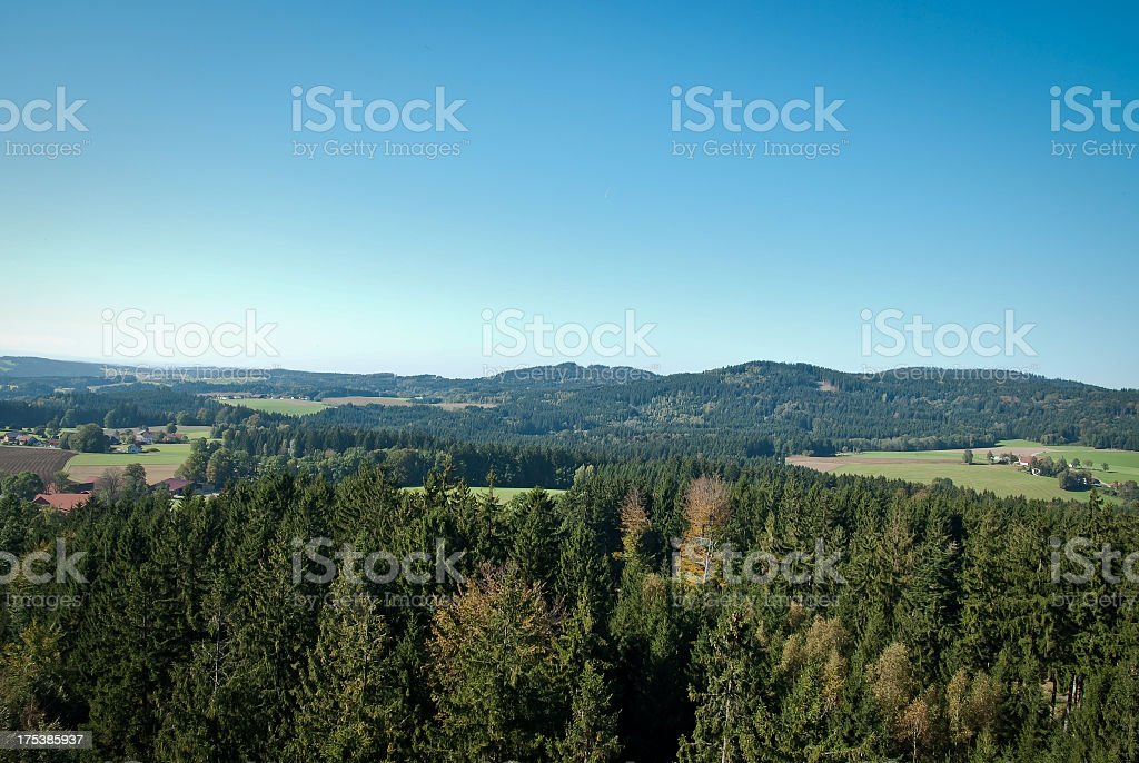 Typical Central European Landscape stock photo