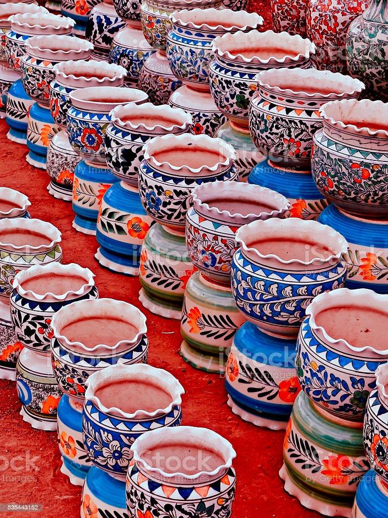Typical ceramic Pots stock photo