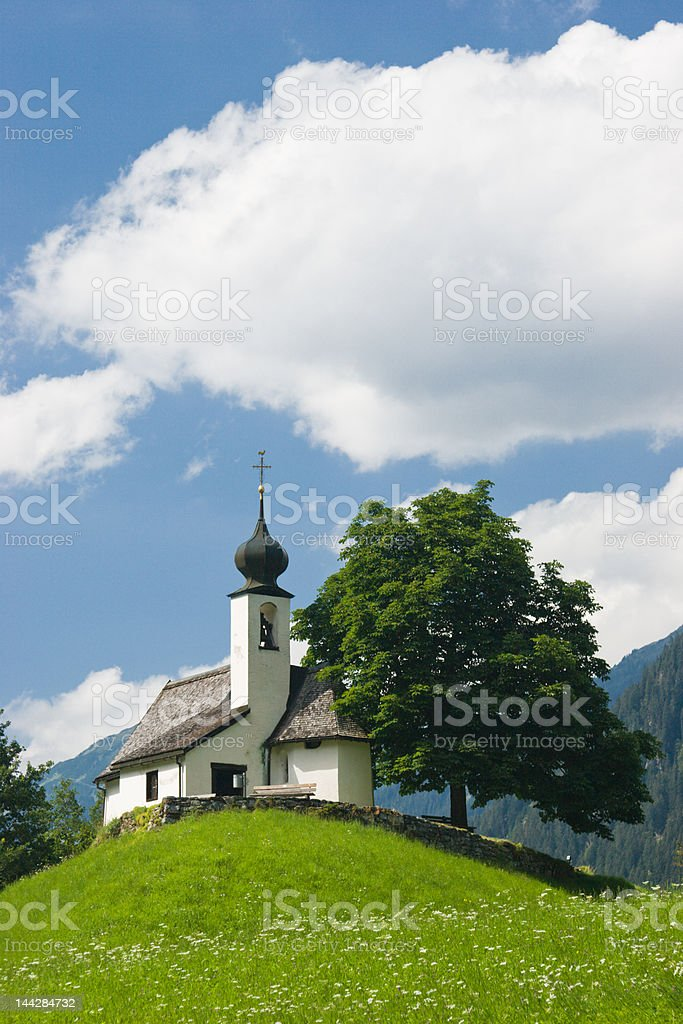 Typical chapel in Austria stock photo