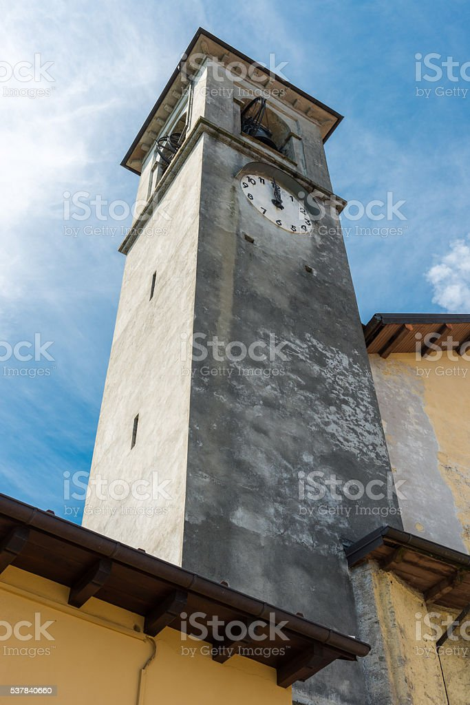 typical church at  Lake Maggiore stock photo