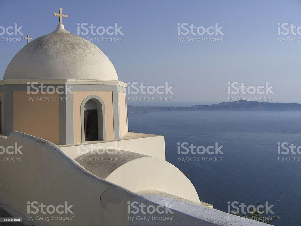 Typical church in Santorini (Greece) royalty-free stock photo