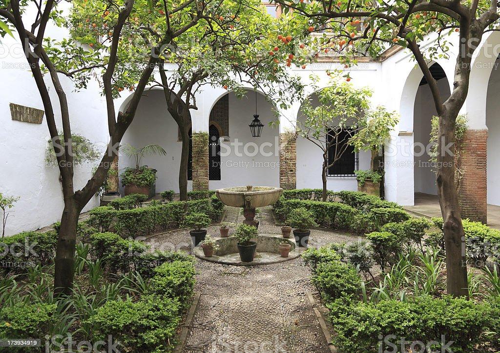 Typical Cordoban Patio royalty-free stock photo