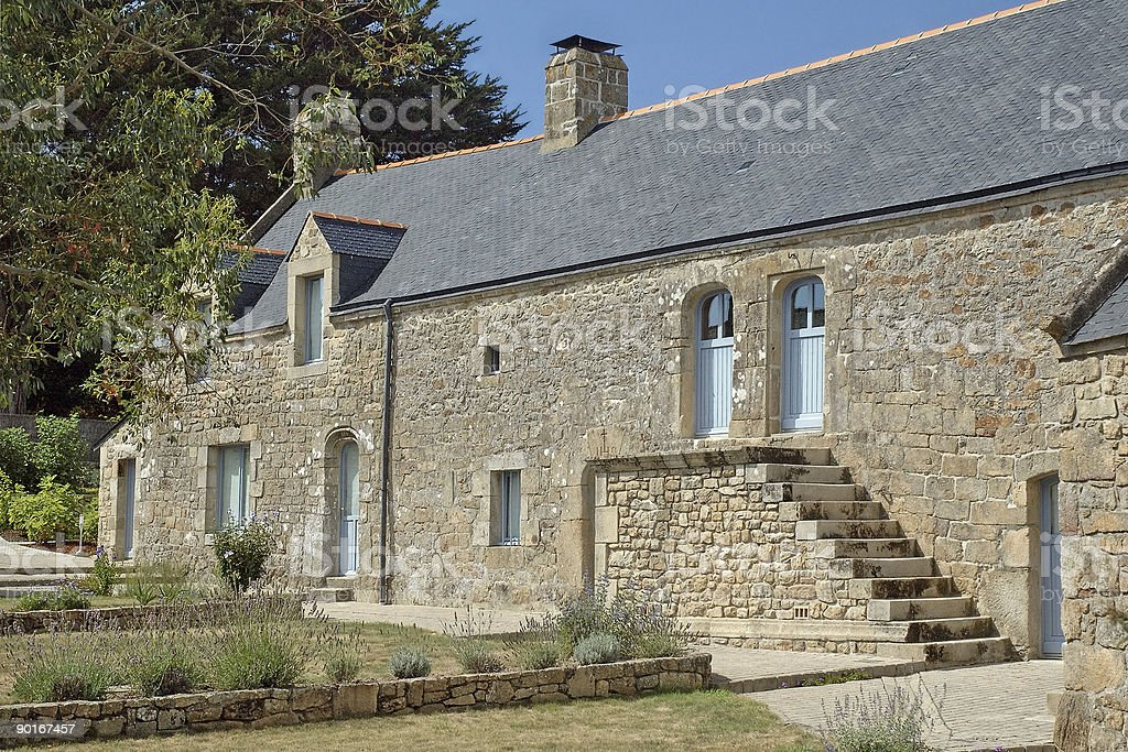 Typical cottage in Brittany royalty-free stock photo