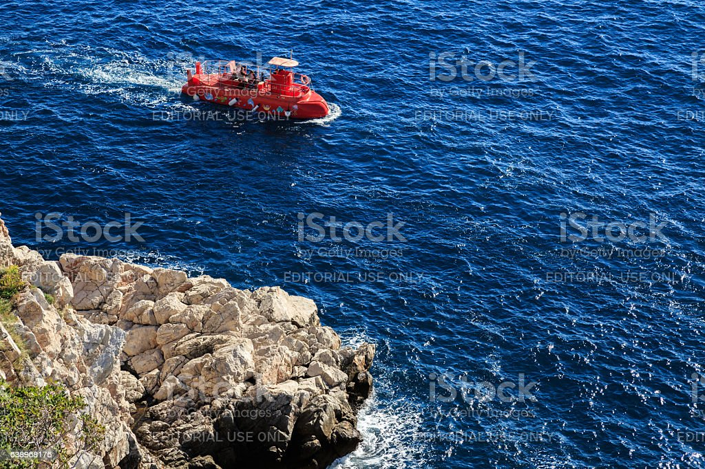 Typical Croat tourist boat stock photo