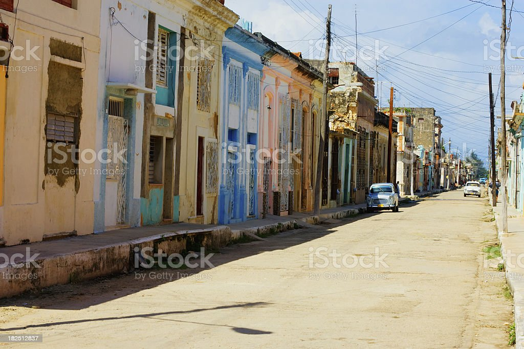 Typical Cuban Town royalty-free stock photo