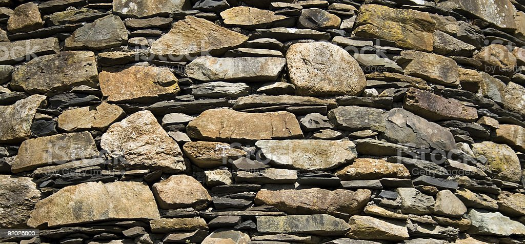 Typical Cumbria Slate Wall stock photo