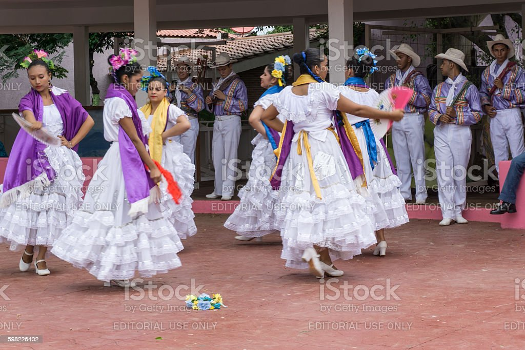 typical dance from Nicaragua, people dancing. Travel General imagery stock photo