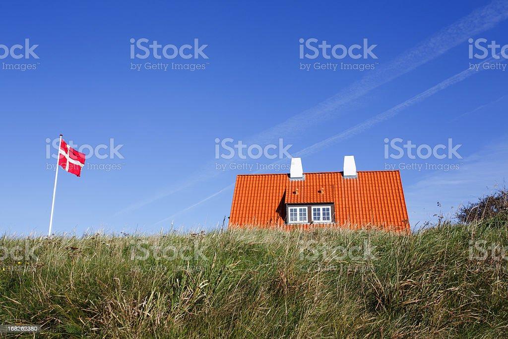 Typical Danish house stock photo
