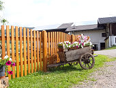 typical decoration of flowers in suedtirol