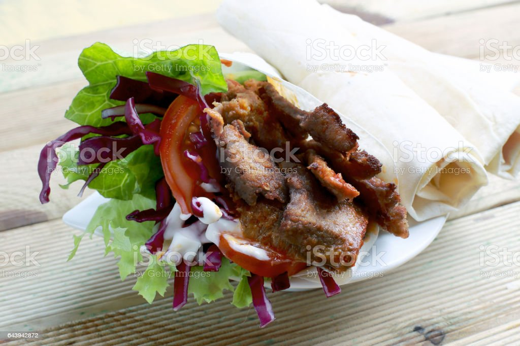 typical doner kebab stock photo