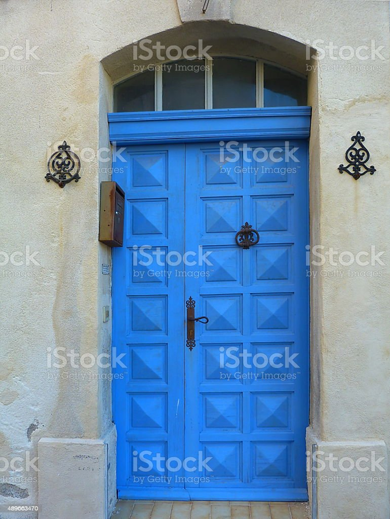 Typical door in the village of Saint Remy de Provence stock photo