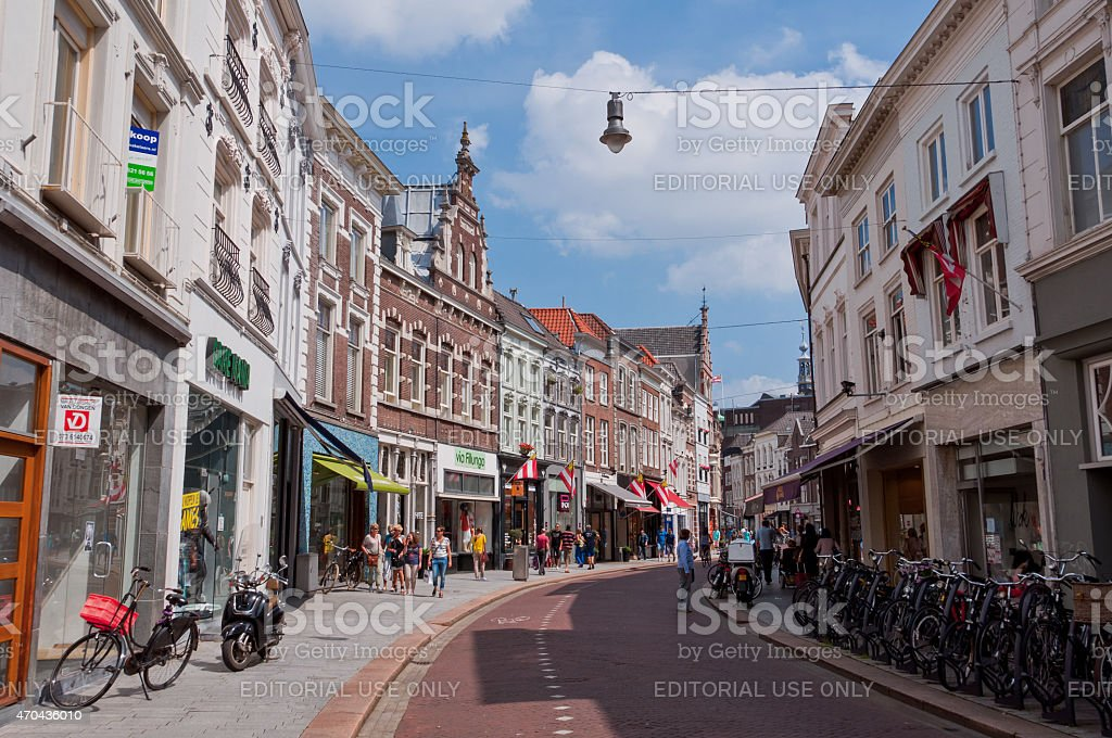 Typical Dutch Architecture of Den Bosch city center stock photo